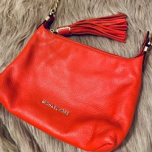 Michael Kors Bright Orange Shoulder Crossbody